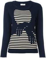 Sonia Rykiel cashmere hands pattern striped pullover