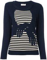 Sonia Rykiel 'hands' pattern striped pullover - women - Cashmere - M