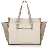 AUGUST Handbags - The Giant Hakone - Natural Canvas And Bronze Cork