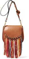 Chloé Hudson Tasseled Leather Shoulder Bag - Light brown