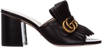 Gucci Double G Mid-Heel Slides