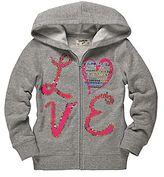 Osh Kosh Sequin Fleece Hoodie - Girls 4-6x