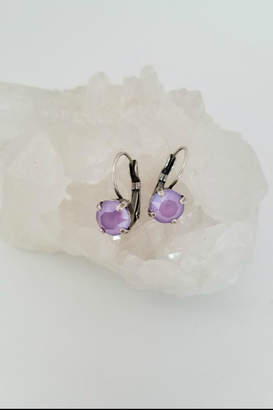 Peridottie Lavender Crystal Earrings