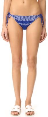 Shoshanna Women's Shimmer Solid Geo Smocking Bikini Bottom