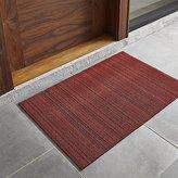 "Crate & Barrel Chilewich ® Red Striped 20""x36"" Doormat"