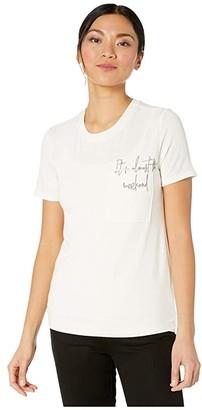 American Rose Addilyn Short Sleeve Weekend Tee (Cream) Women's Clothing