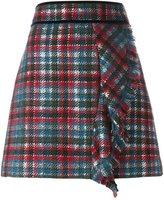 MSGM tartan mini skirt - women - Wool/Polyamide/Polyester - 44