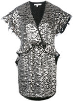IRO metallic peplum dress - women - Polyester/Polyester Taffeta - 36