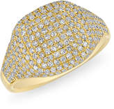 Anne Sisteron Cushion Pinkie Ring in Yellow Gold