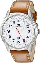 Tommy Hilfiger Men's Stainless Steel and Brown Leather Strap Watch 1710311