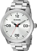 Nixon Women's 'G.I. SS, All' Quartz Stainless Steel Automatic Watch, Color:Silver-Toned (Model: A919-1920-00)