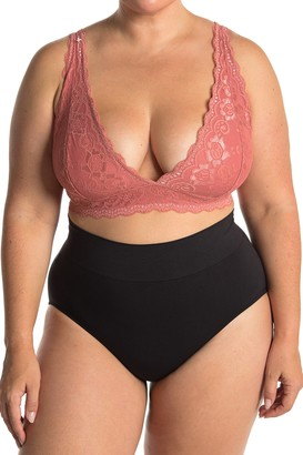 Jessica Simpson V-Neck Lace Bralette (Plus Size)