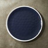 Crate & Barrel Regatta Blue Melamine Dinner Plate
