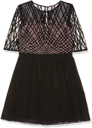 Little Mistress Women's Sequin Top Prom Dress