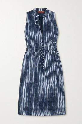 Altuzarra Striped Cotton-blend Poplin Dress - Blue