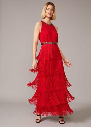 Phase Eight Albertina Fringe Maxi Dress