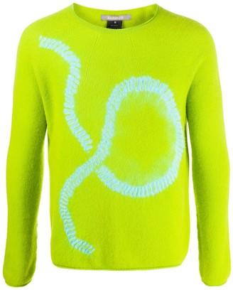 Suzusan Crew Neck Stitch Print Sweater