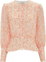 The East Order Peaches Floral Blouse