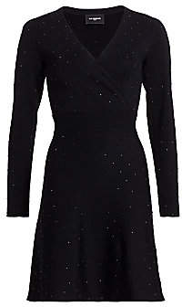 The Kooples Women's Studded Surplice Knit Dress