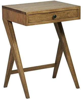 Noir Peter End Table with Storage Color: Dark walnut