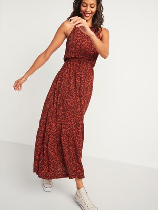 Old Navy Waist-Defined Braided-Strap Printed Maxi Dress for Women
