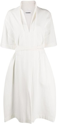 Jil Sander Tie-Waist Cotton Dress