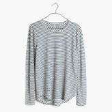 Madewell Whisper Cotton Long-Sleeve Crewneck Tee in Hardy Stripe