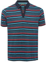 M&Co Notch neck stripe polo shirt