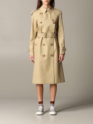 Burberry Double-breasted Trench Coat With Belt