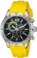 Nautica Men's NAD15514G NST 30 Analog Display Quartz Yellow Watch