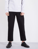 Burberry Relaxed-fit cotton-twill trousers