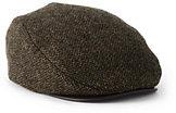 Lands' End Men's Tweed Driver Cap-Brown Windowpane