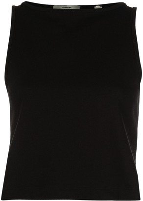 Vince Cropped Cotton Tank Top