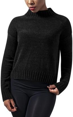 Urban Classics Women's Ladies Chenille Turtleneck Crew Sweater