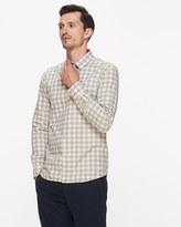 Mouline Check Slim Shirt