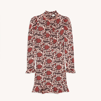 Sandro Short printed silk blend dress