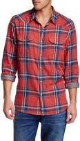 Lucky Brand Santa Fe Plaid Long Sleeve Regular Fit Western Shirt