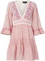 Saloni June V-Neck Mini Dress