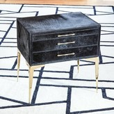 Global Views Stiletto Bedside 3 Drawer Accent Chest Color: Black