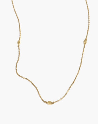 Madewell Delicate Collection Demi-Fine Cube Chain Necklace