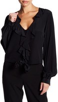 Yoana Baraschi City of Lights Ruffle Tie Silk Blouse
