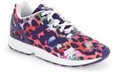adidas 'ZX Flux EL' Print Running Shoe (Baby, Walker, Toddler, Little Kid & Big Kid)