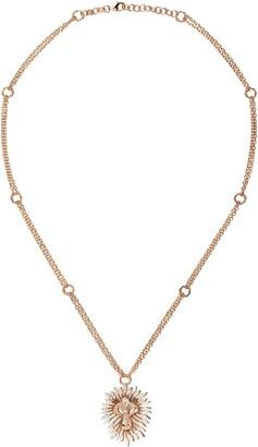 Kismet By Milka 14kt Rose Gold Large Lion Diamond Pendant Necklace