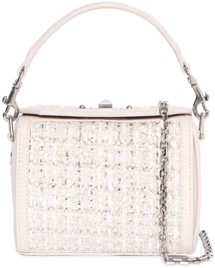 Alexander McQueen Nano Box Leather & Tweed Bag