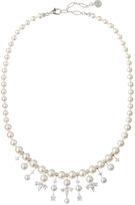 Majorica Pearl and CZ Bib Necklace