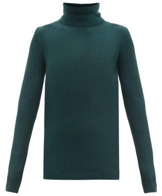 Joseph Roll-neck Ribbed Merino Wool Sweater - Dark Green