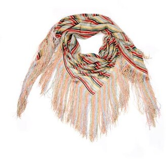 Missoni Striped Wrap with Fringe