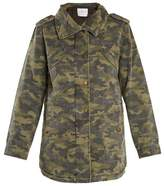 Velvet by Graham & Spencer Irene camouflage-print point-collar jacket