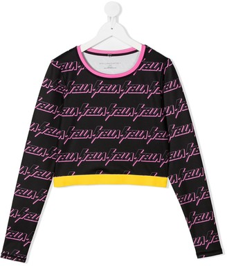Stella McCartney Kids TEEN sports logo print sweatshirt