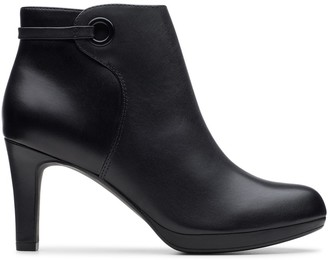 Clarks Stiletto Leather Ankle Boots with High Heel